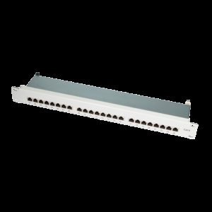 "Patch Panel 19""-mounting Cat.6 STP 24 ports grey LogiLink"