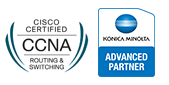 Epsilon Teledata είναι Cisco Registered Partner and Konica Minolta Advanced Partner